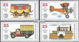Bulgarie 3724A-3727A (complète.Edition.) Neuf Avec Gomme Originale 1988 Histoire De Trafic Postal - Bulgaria