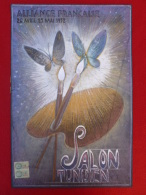DESSIN ORIGINAL PASTEL ALLIANCE FRANCAISE SALON TUNISIEN PAR CHARLES BORG 1952 - Pastelli