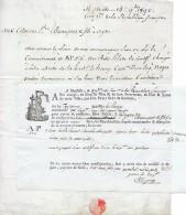 """8 Sept. 1792 (l´an 1er De La République Fse) - Marseille - Connaissement Tartane """"LE HENRY"""" - LAINE DE CONSTANTINOPLE - Documents Historiques"""
