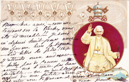CPA Christianisme Religion Pape LEON XIII Dans Un Médaillon - Christianity