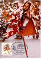 Carte Maximum Card 1983 Germany Swabian Alemannic Carnival Music Costumes FDC Mi 1167 Sc 1390 #20343 - [7] République Fédérale