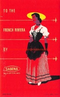 To The French Riviera By Sabena - Baggage Etiketten