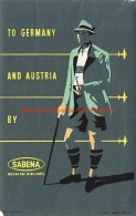 To Germany And Austria By Sabena - Baggage Etiketten