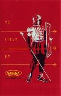 To Italy By Sabena - Baggage Etiketten