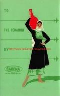 To The Lebanon By Sabena - Baggage Etiketten