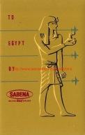 To Egypt By Sabena - Baggage Etiketten
