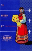To Russia By Sabena - Baggage Etiketten