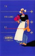 To Holland By Sabena - Baggage Etiketten
