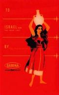 To Israel By Sabena - Baggage Etiketten