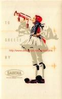 To Greece By Sabena - Baggage Etiketten