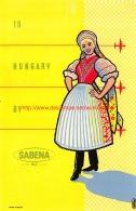 To Hungary By Sabena - Baggage Etiketten