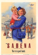 With Sabena You're In Good Hands - Baggage Etiketten