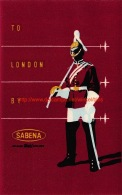 To London By Sabena - Baggage Etiketten