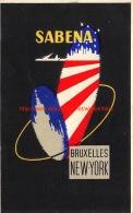 Sabena: Bruxelles New-York - Baggage Etiketten