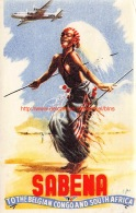 Sabena: To The Belgian Congo And South Africa - Baggage Etiketten