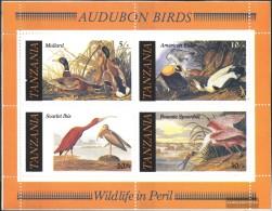 Tanzania Block55 (complete Issue) Unmounted Mint / Never Hinged 1986 John James Audubon - Tanzania (1964-...)