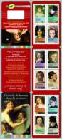 2012 - CARNET AUTOADHESIF - Art - Portraits De Femmes Dans La Peinture - Journée De La Femme 2012 - N° YT : 674 à 685 - Carnets