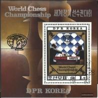 North-Korea Block89 (complete Issue) Fine Used / Cancelled 1980 World Chess Championships - Corea Del Nord