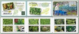 2012 - CARNET AUTOADHESIF - Flore - Légumes - N° YT : 739 à 750 - Carnets