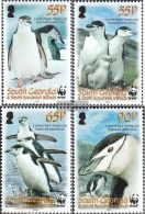 Süd-Georgien/Sandw.Inseln 454-457 (completa Edizione) MNH 2008 Kehlstreifpinguin - Georgias Del Sur (Islas)