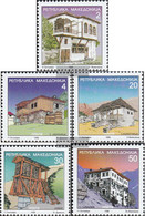 Makedonien 116-120 (complete Issue) Unmounted Mint / Never Hinged 1998 Clear Brands: Architecture - Macedonia