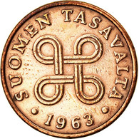 Monnaie, Finlande, Penni, 1963, SUP, Cuivre, KM:44 - Finlande