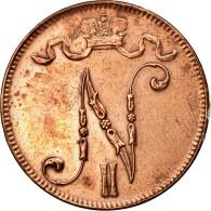 Finlande, Nicholas II, 5 Pennia, 1911, SUP, Cuivre, KM:15 - Finlande