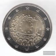 Lithuania 2015 Stgl./unzirkuliert Reprint: 750.000 Stgl./unzirkuliert Stgl./unzirkuliert 2015 2 Euro 30 Years Europaflag - Lituania