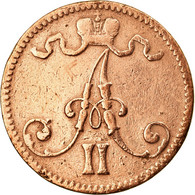 Monnaie, Finlande, Alexander II, 5 Pennia, 1866, TB+, Cuivre, KM:4.1 - Finlande