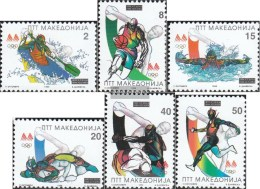 Makedonien 62-67 (complete.issue.) Unmounted Mint / Never Hinged 1996 Olympics Summer'96 - Macedonia