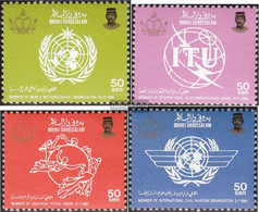 Brunei 335-338 (complete.issue.) Unmounted Mint / Never Hinged 1986 International Organizations - Brunei (1984-...)