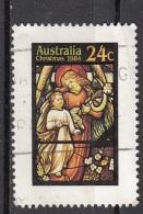 927 Australia 1984  Christmas Natale Noel Stained-glass Windows : Angel And Child Viaggiato Used - Vetri & Vetrate