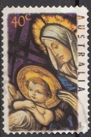 Australia 1995 Sc. 1475 Christmas Natale Stained-glass Windows. Christians Church Melbourne. Madonna And Child. Used - Vetri & Vetrate