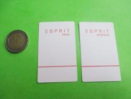 ESPRIT  - Carte Parfumée  (présentée Recto-verso) - Modern (from 1961)