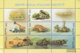 Weißrussland 303-308 Sheetlet I (complete Issue) Unmounted Mint / Never Hinged 1999 Vehicles Out Minsker Plant - Belarus