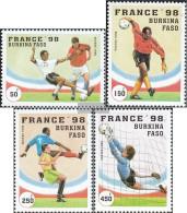 Burkina Faso 1427-1430 (complete.issue.) Unmounted Mint / Never Hinged 1996 Football-WM 1998 - Burkina Faso (1984-...)