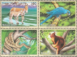 UN - Geneva 369-372 Block Of Four (complete Issue) Unmounted Mint / Never Hinged 1999 Affected Animals - Geneva - United Nations Office