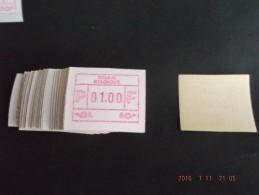 ATM.Jac Papier Crème. 100x - Vignettes D'affranchissement