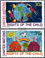 UN - New York 615-616 (complete Issue) Unmounted Mint / Never Hinged 1991 Rights Of Kinof - New York – UN Headquarters