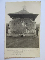 PHOTO 135 X 85 MM,VORONET MONASTERY/BUCOVINA(ROMANIA) 22.07.1943 - Guerra, Militari