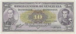 Venezuela 10 Bolivares 3.11.1988 Pick 62 VF - Venezuela