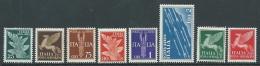 1930-32 REGNO POSTA AEREA SOGGETTI ALLEGORICI 8 VALORI MNH ** - F15-3 - 1900-44 Vittorio Emanuele III