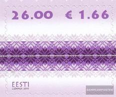 Estonia 671 (complete Issue) Unmounted Mint / Never Hinged 2010 Strickmuster - Estonia