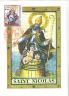 Carte Maximum FRANCE N° Yvert 2853 (SAINT NICOLAS) Obl Sp Ill 1er Jour - Cartes-Maximum