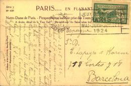 1924, Postcard With Cancellation PARIS - JEUX OLYMPIQUE PARIS MAI-JUIN-JULIET 1924