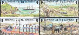 United Kingdom - Alderney 108-115 Couples (complete Issue) Unmounted Mint / Never Hinged 1997 Development - Alderney
