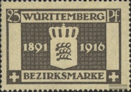 Württemberg D128 Tested Fine Used / Cancelled 1916 - Wurttemberg