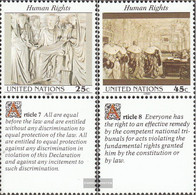 UN - New York 606-607 With Zierfeld (complete Issue) Unmounted Mint / Never Hinged 1990 Human Rights - New York – UN Headquarters