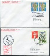 1979 Germany Greece Lufthansa Thessaloniki / Stuttgart Flight Covers (2) - Airmail