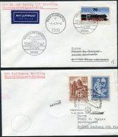 1976 Austia Germany Lufthansa Wien / Hamburg First Flight Covers (2) - Airmail